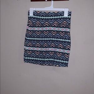 BodyCon Aztec Skirt